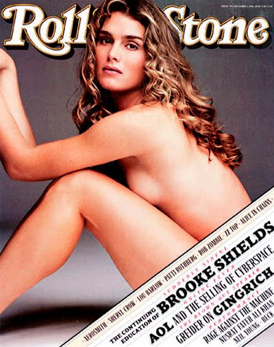 Brooke Shields on the cover of *Rolling Stone* in October 1996.