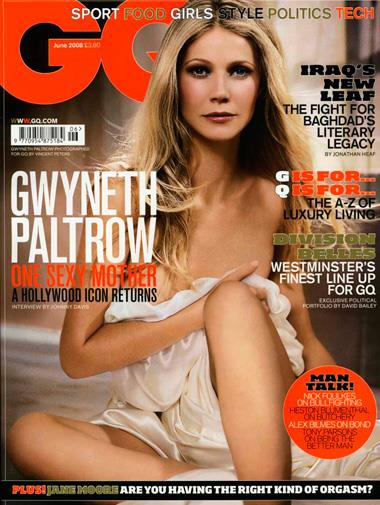 Gwyneth Paltrow on the cover of *GQ* in June 2008.