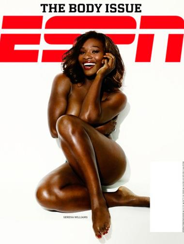Serena Williams on the cover of *ESPN* magazine in 2009.