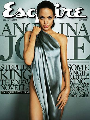 Angelina Jolie on the cover of *Esquire* in 2007.
