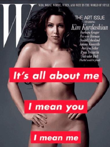 Kim Kardashian on the cover of *W* magazine last year.