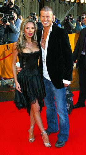 Red carpet casual in 2004.