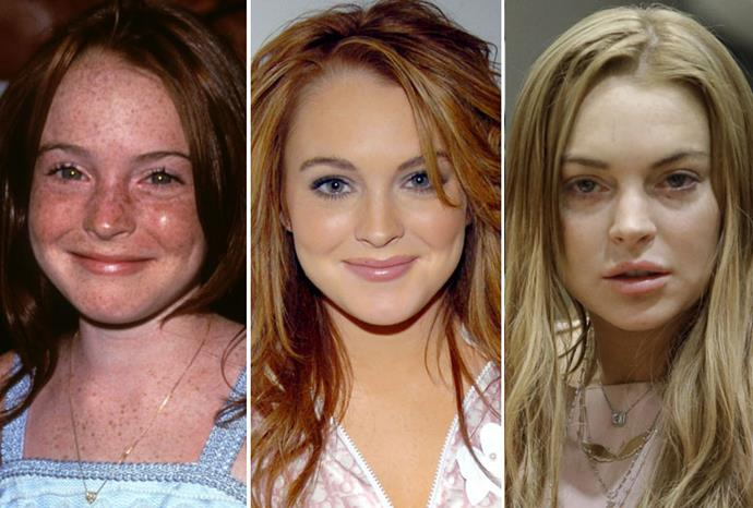 Lindsay in 1998, 2004 and 2013.