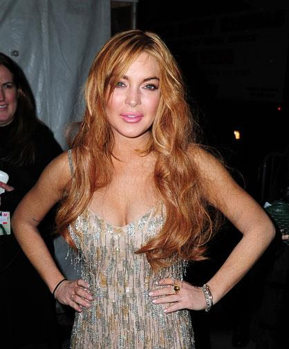 Lindsay out partying in February 2013.