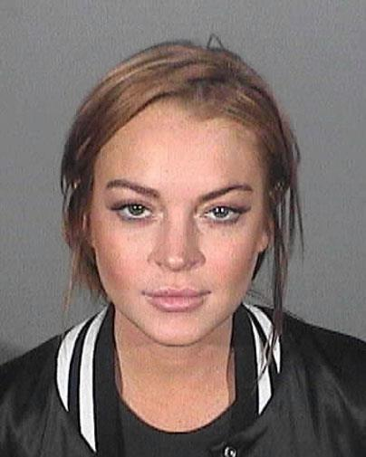 Lindsay's mug shot in March 2013.