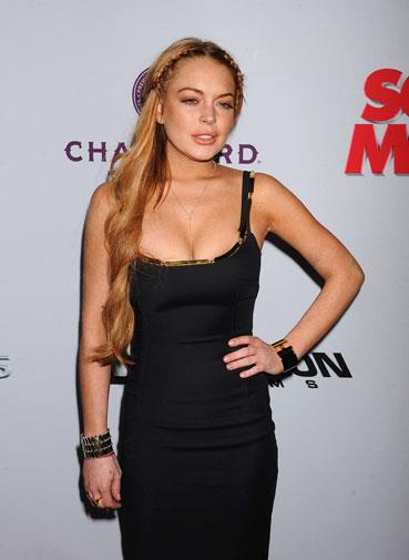 Lindsay at a premiere in April 2013.