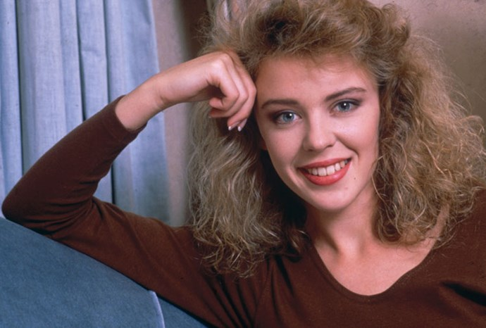 Kylie at the start of her pop career in 1988.