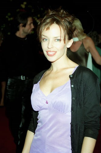 Kylie on the red carpet in London in 1996.