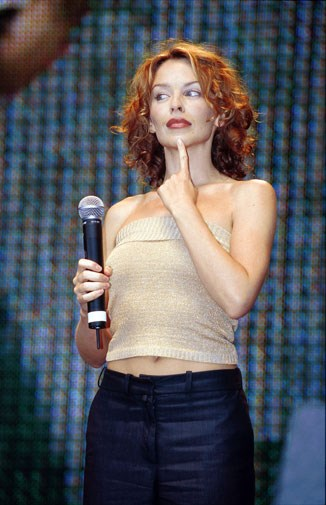 A redheaded Kylie in 2000.