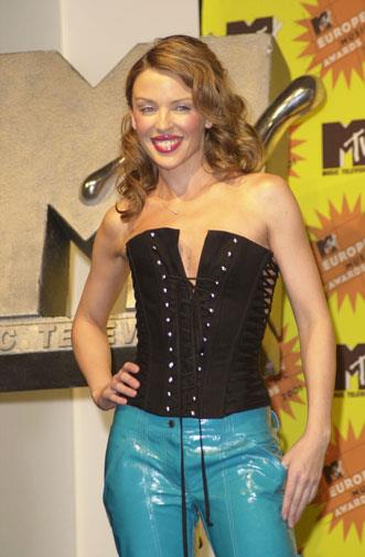 Kylie wore a black corset to the MTV Europe Music Awards in 2001.