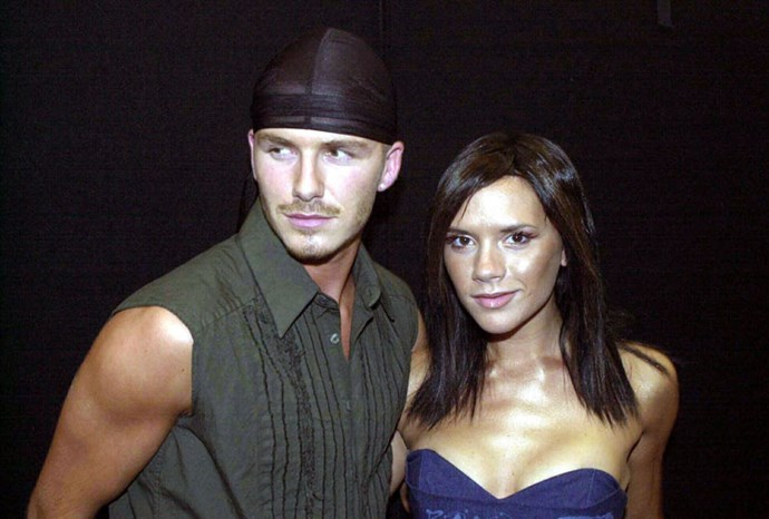 David and Victoria in 2000.