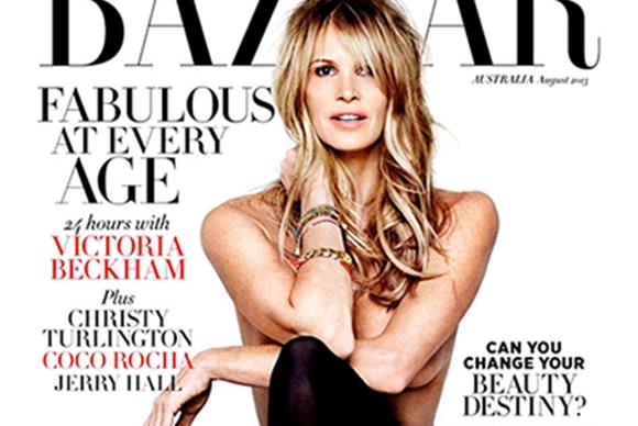 The body at 50: Elle Macpherson poses nude