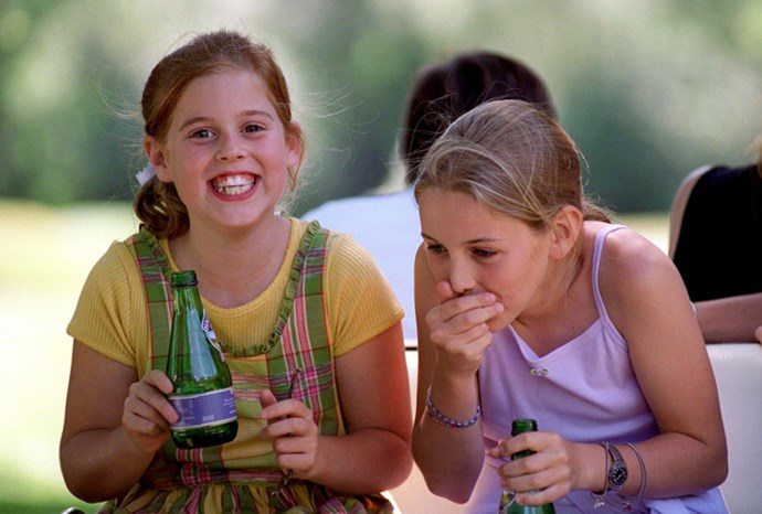 Princess Beatrice with a school friend in 1998.