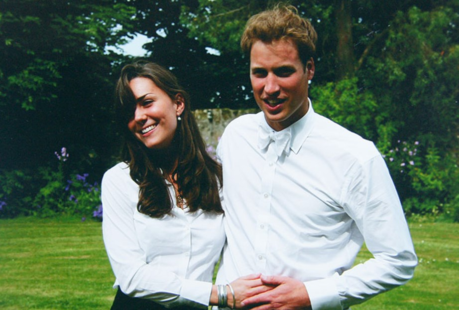 Kate and Wills at their graduation in 2005.