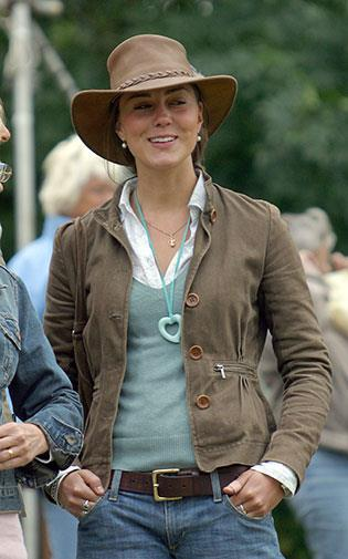 Kate at the Gatcombe horse trials in August 2005.