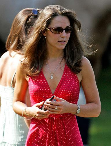 Kate watching William play polo in 2006.