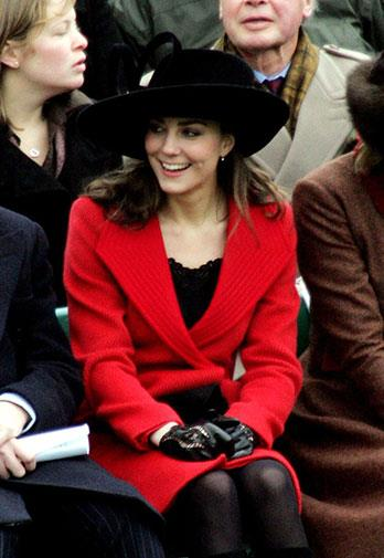 We knew the romance was serious when Kate attended the Sovereign's Parade in 2006.