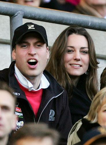 The couple tried to keep a low profile at this rugby game in February 2007.