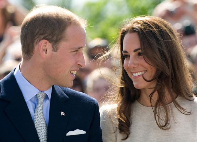 William and Kate exchange a loving look on their Canadian tour in 2011.