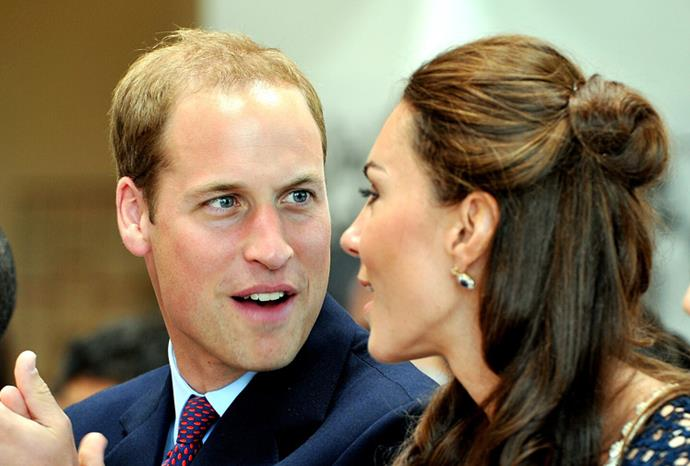 William looks in awe of his wife in LA 2011.