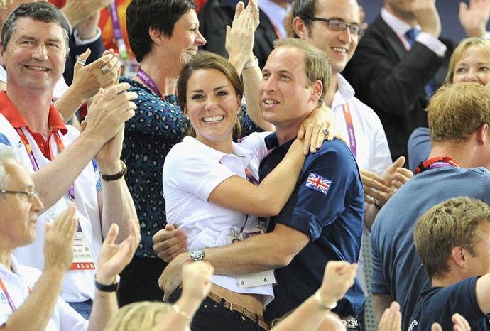 Celebrating at the Olympics in 2012.