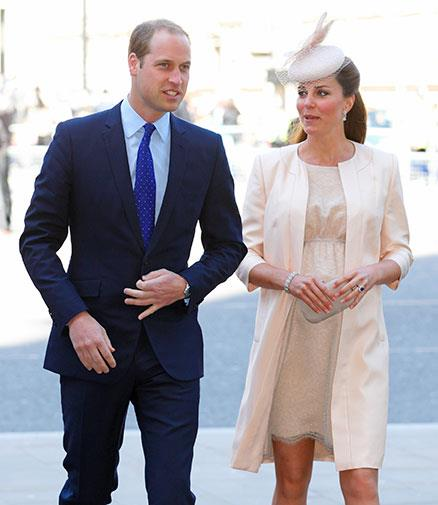 William and Kate at a service to mark the 60th anniversary of the Queen's coronation in June 2014.