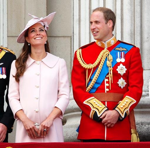 William and Kate at the Trooping of the Colour in June 2014.