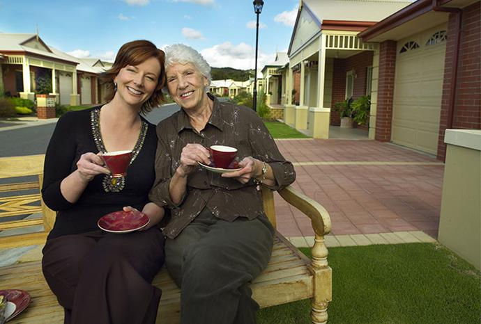 We photographed Julia with her mother Moira for Mother's day in 2006. photographer / bauersyndication.com.au