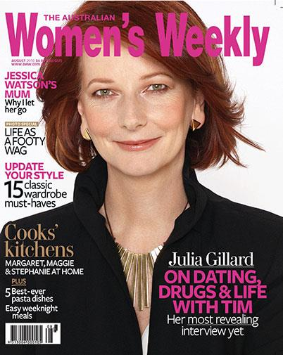 Julia Gillard made the cover in 2010 when she became Prime Minister.