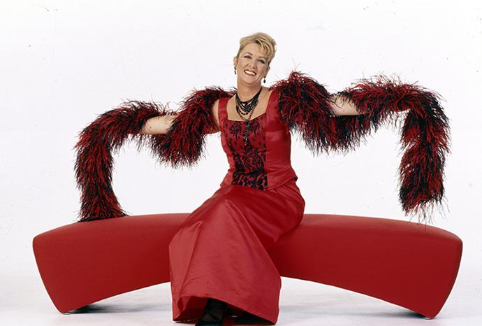 Cheryl Kernot posed for The Weekly in a feather boa in 1998.