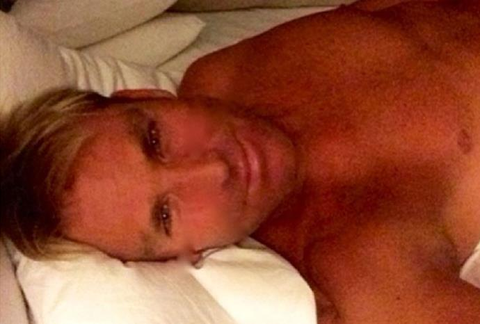 """""""Morning..."""" Shane Warne's pic has been dubbed the selfie no one needs to see."""