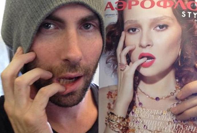 Maroon 5's Adam Levine.