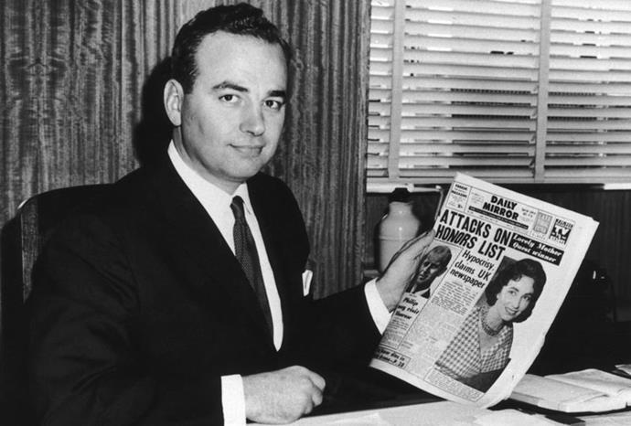 Rupert taking over Sydney's *Daily Mirror* in 1960.