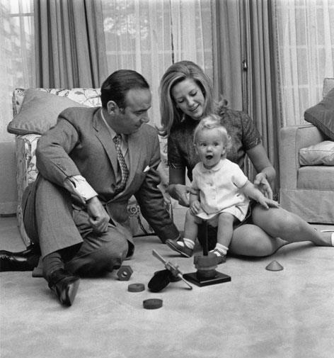 Rupert and Anna with their daughter Elisabeth in 1969.