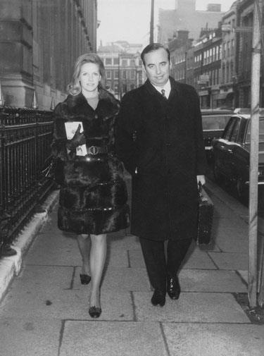 Rupert with his second wife Anna in 1969.