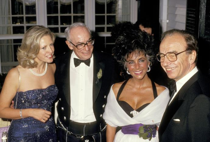 Rupert and Anna with Elizabeth Taylor and Malcolm Forbes in 1987.