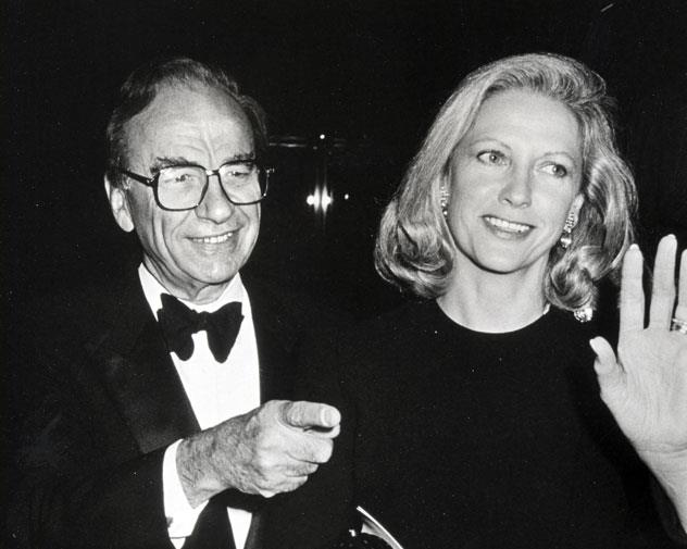 Rupert and Anna in 1988.