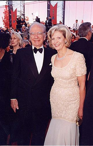 Rupert with his second wife Anna in 1998, shortly before they split.