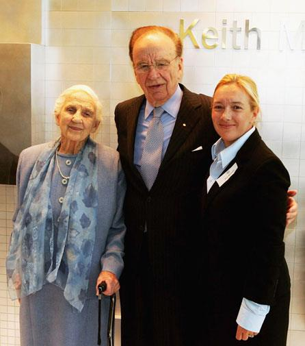Rupert with his mother Dame Elisabeth and his eldest daughter Prue McLeod in 2005.