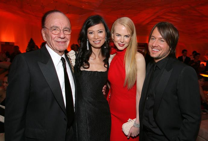 Rupert and Wendi with Nicole Kidman and Keith Urban in February 2007.