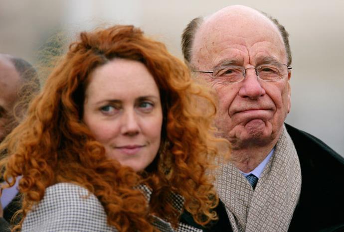 Rupert with embattled News International executive Rebekah Brooks.