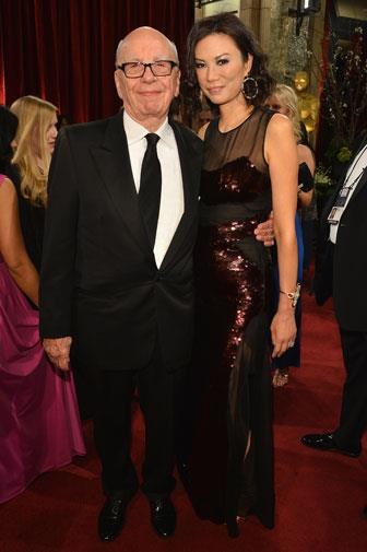 Rupert and his third wife Wendi at the Oscars in 2013.