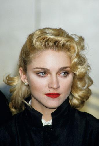 Madonna looking angelic in March 1986.