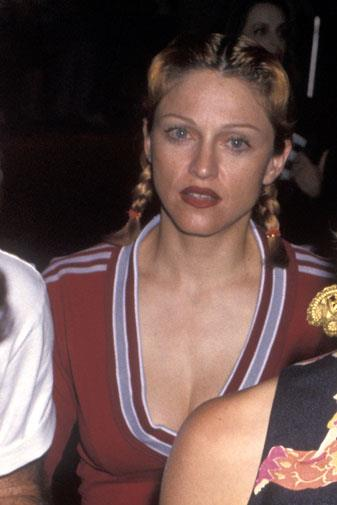 Madonna without makeup in June 1993.