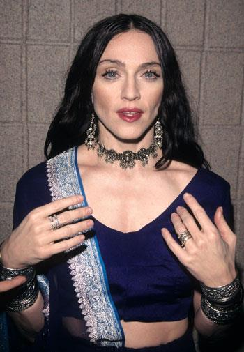 Morticia Addams, is that you? Madonna in October 1998.