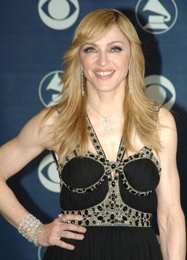 Madonna at the 2006 Grammy Awards.