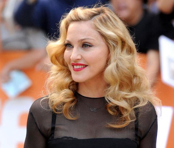 Madonna looking a little puffy in September 2011.