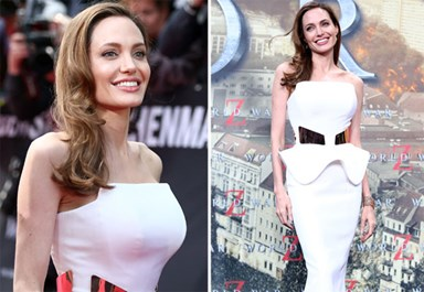 Angelina Jolie's post-mastectomy figure