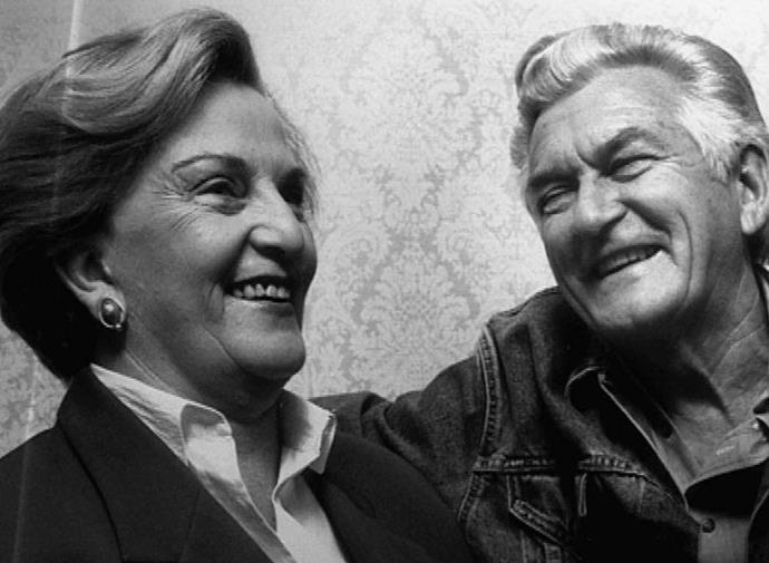 Hazel and Bob Hawke