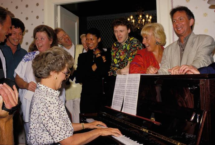Hazel was a talented pianist and always keen to entertain.
